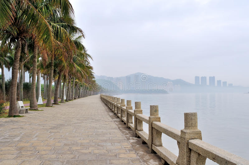 Seaside Sidewalk stock image