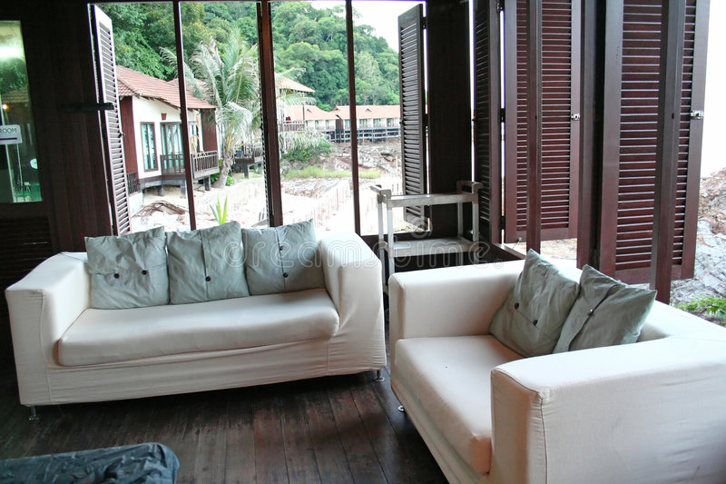 Seaside sofa stock images