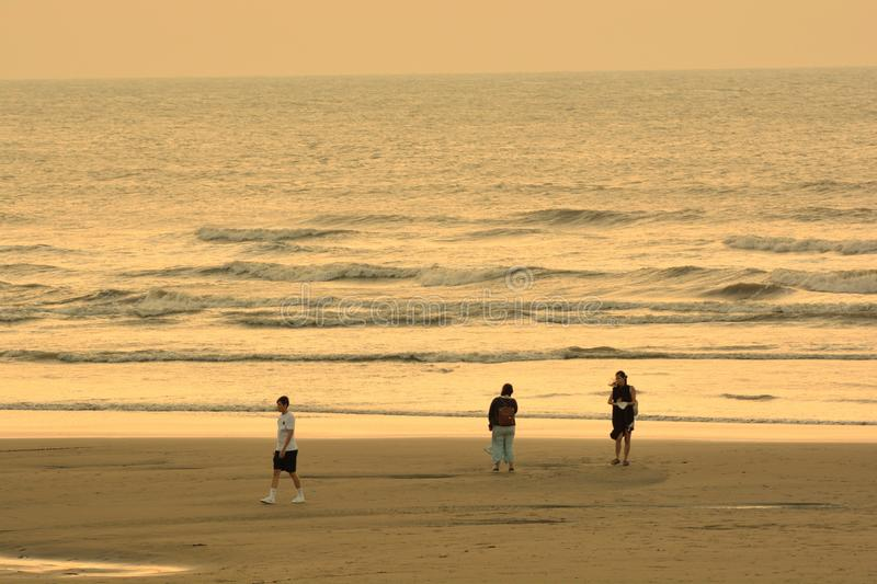 The sunset in Hsinchu, Taiwan. The seaside style royalty free stock photography