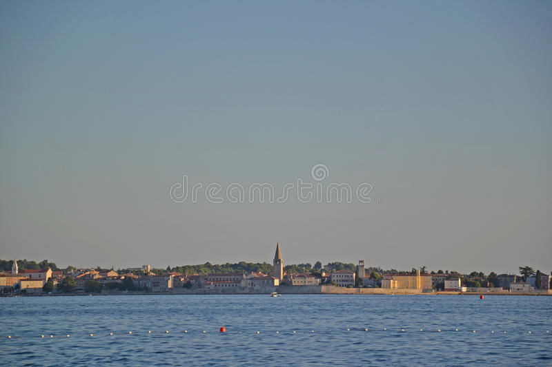 Seaside town Porec - Croatia royalty free stock photos