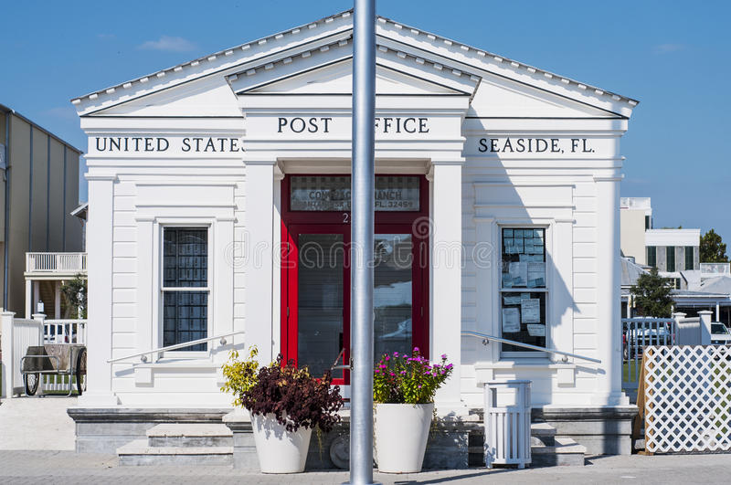 Seaside Town Post Office. The picturesque little post office of Seaside Town in Walton County in Florida royalty free stock photo