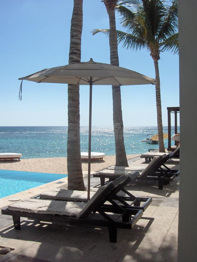 Seaside Umbrella royalty free stock photos