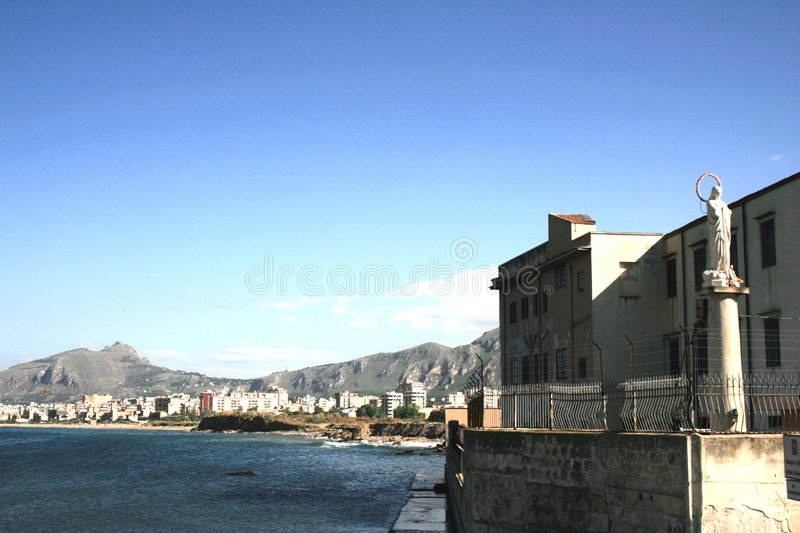 Download Seaside view of Palermo stock image. Image of province - 3271395