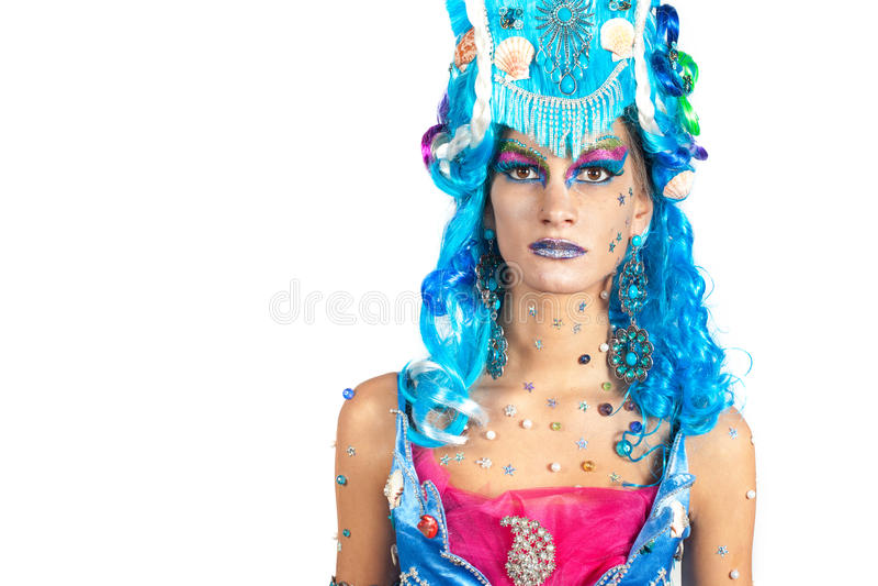 Download Seaside woman stock photo. Image of make, caucasian, dress - 27592288