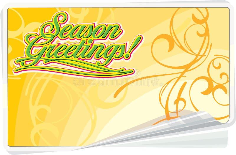 Season Greetings Floral Card Royalty Free Stock Photos