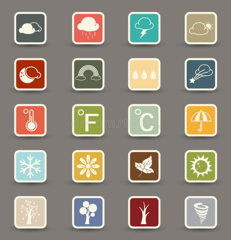 Download Season icons stock vector. Image of illustration, drop - 37997951