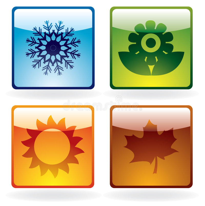 Download Season icons stock vector. Illustration of sign, glossy - 8786102