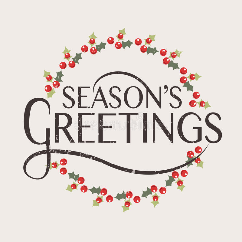 Seasons greetings typography for christmasnew year greeting card download seasons greetings typography for christmasnew year greeting card stock vector illustration of m4hsunfo Image collections
