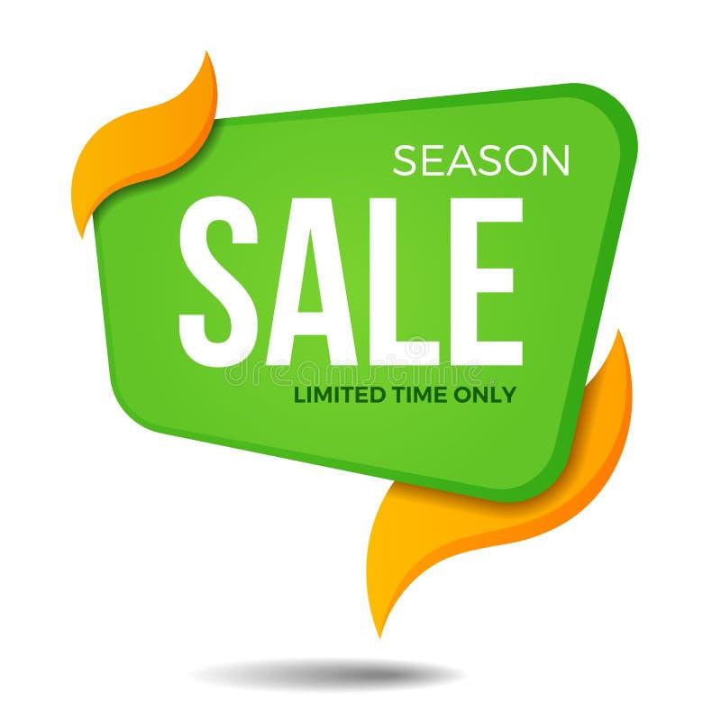 Season sale label price tag banner sticker badge template design stock photo