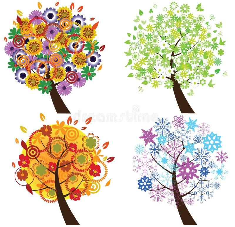 Download Season trees stock vector. Illustration of branch, fall - 18745165
