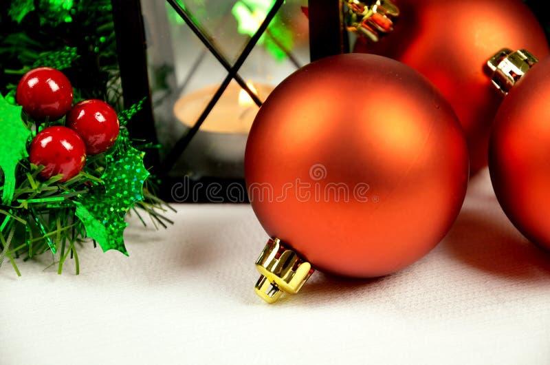 Seasonal background with Christmas decorations royalty free stock photo