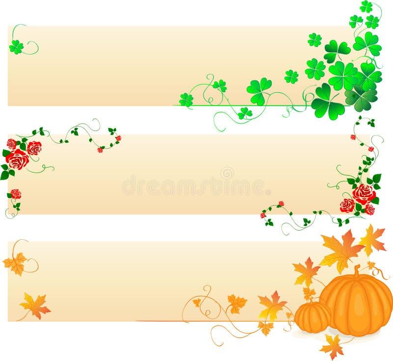 Download Seasonal banners stock vector. Illustration of autumnal - 13829687