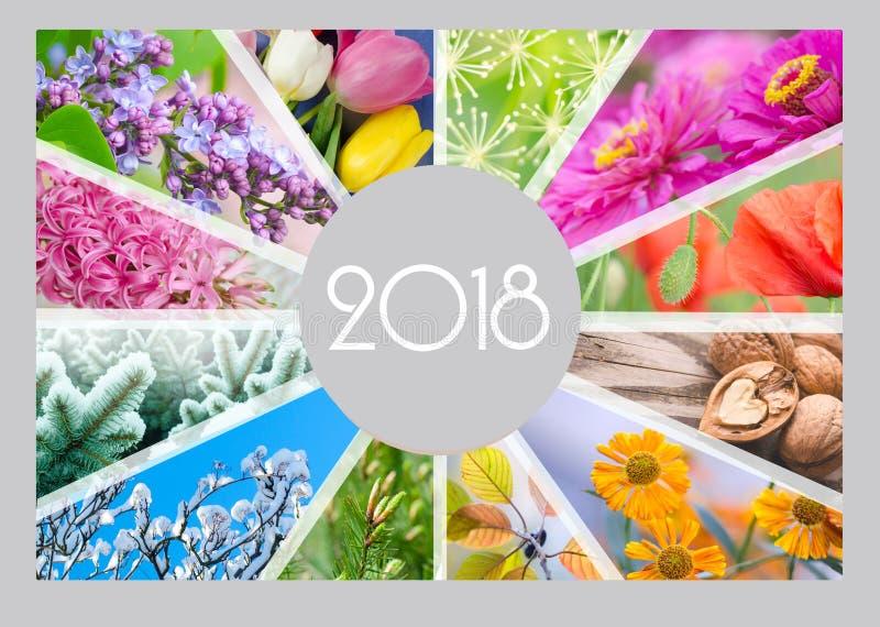 Seasonal Calendar for 2018 year. Quarterly calendar of accountant. royalty free stock photo