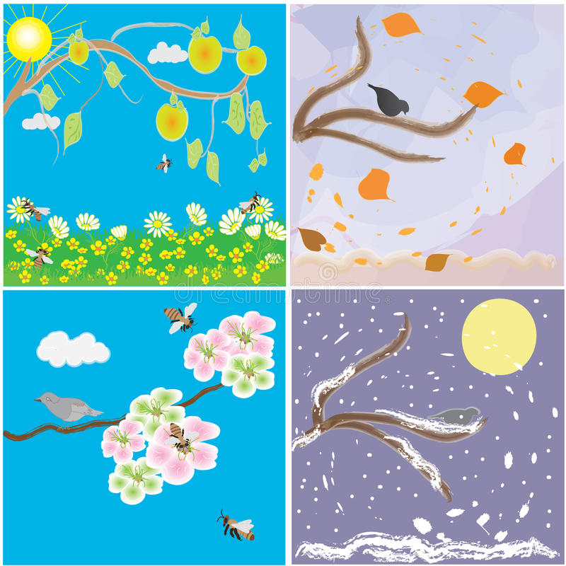 Download Seasonal change of year stock vector. Image of nature - 16423240