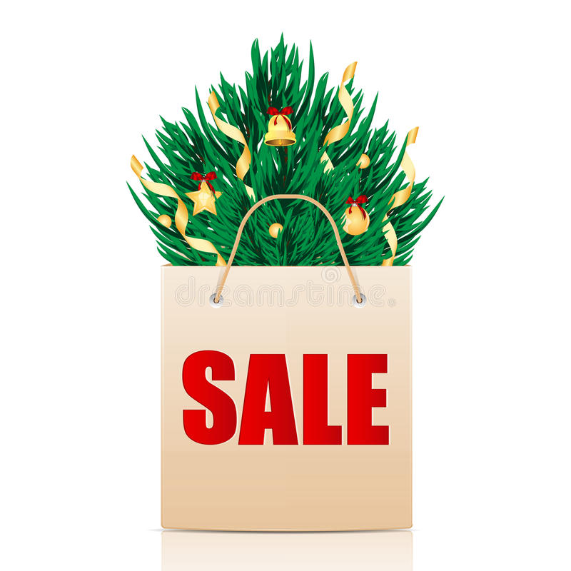 Seasonal Christmas Sale Stock Photo