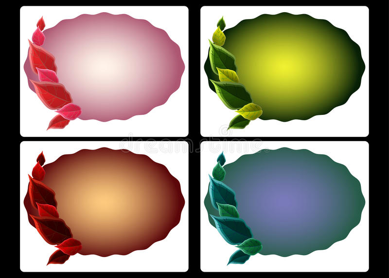 Seasonal Color Tags Stock Photo