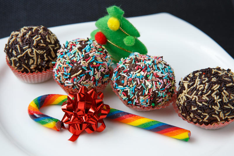 Seasonal festive christmas mini dessert royalty free stock image