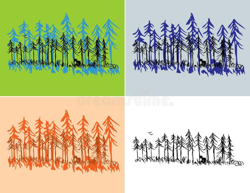 Download Seasonal Forest Scenes stock vector. Image of outdoor - 15996713