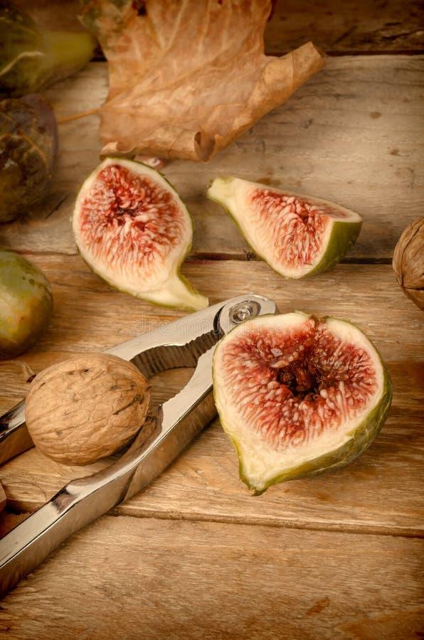 Seasonal fresh figs royalty free stock photography