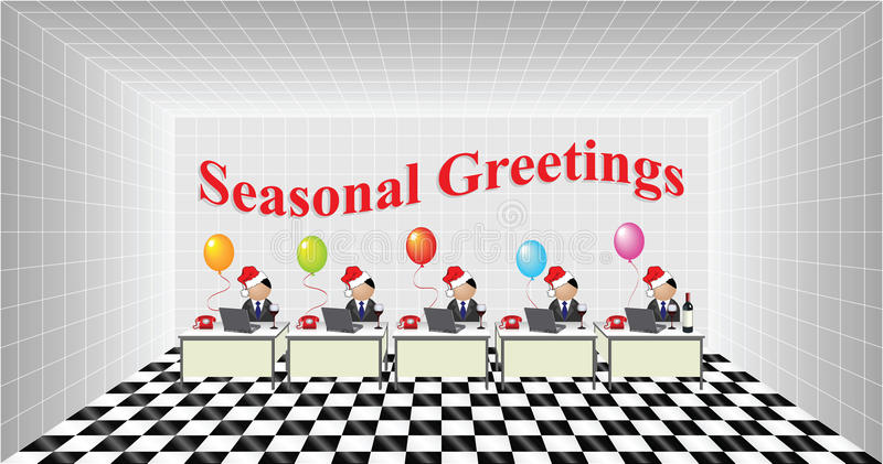 Download Seasonal Greetings stock vector. Image of colleagues - 16846571