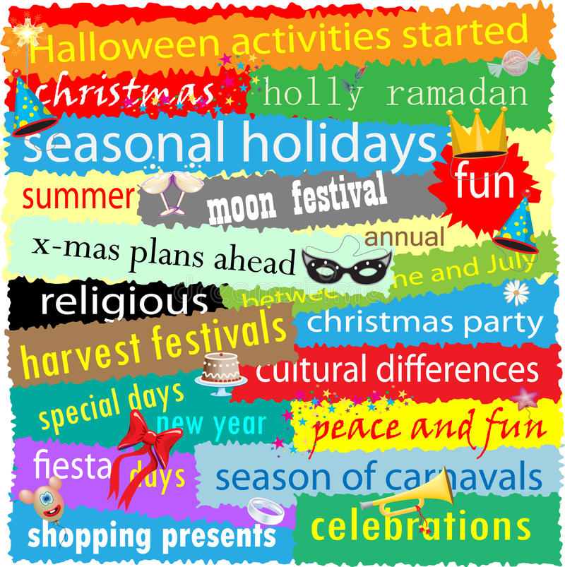 Download Seasonal Holiday Word Cloud Stock Illustration - Image: 16878545