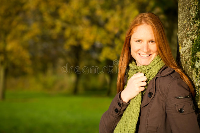Download Seasonal Portrait Of A Woman In A Park Stock Images - Image: 35232254