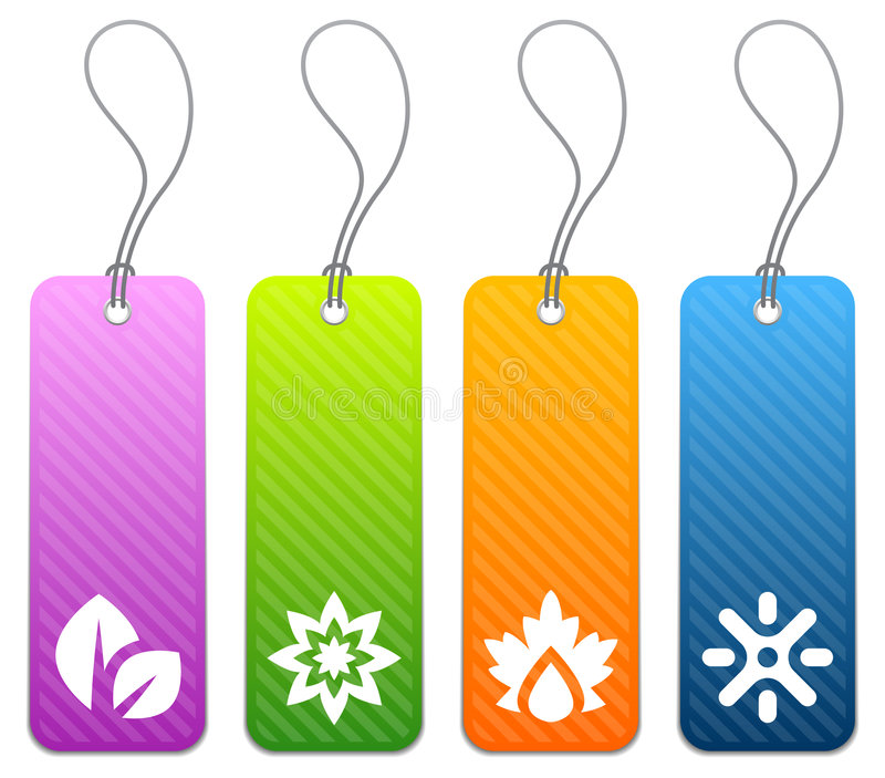 Download Seasonal Product Tags In 4 Colors Stock Vector - Image: 5115760