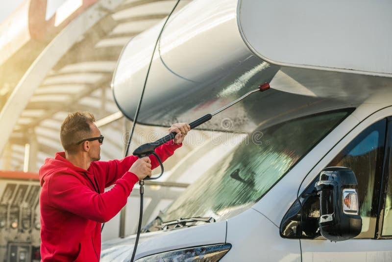 RV Camper Car Wash stock photo
