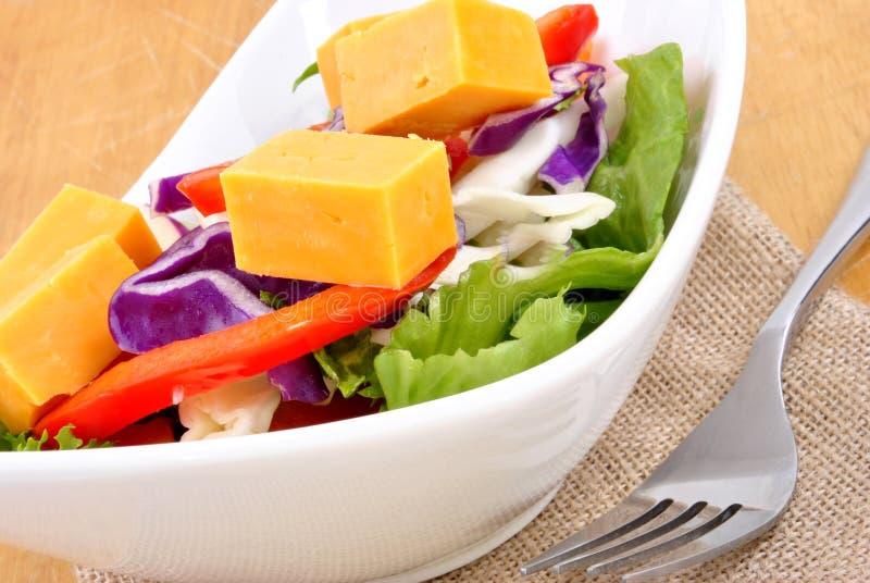 Seasonal Salad With Mature Cheese Royalty Free Stock Image