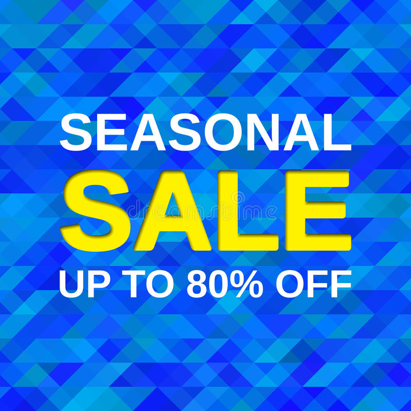 Seasonal sale banner. Vector illustration. vector illustration