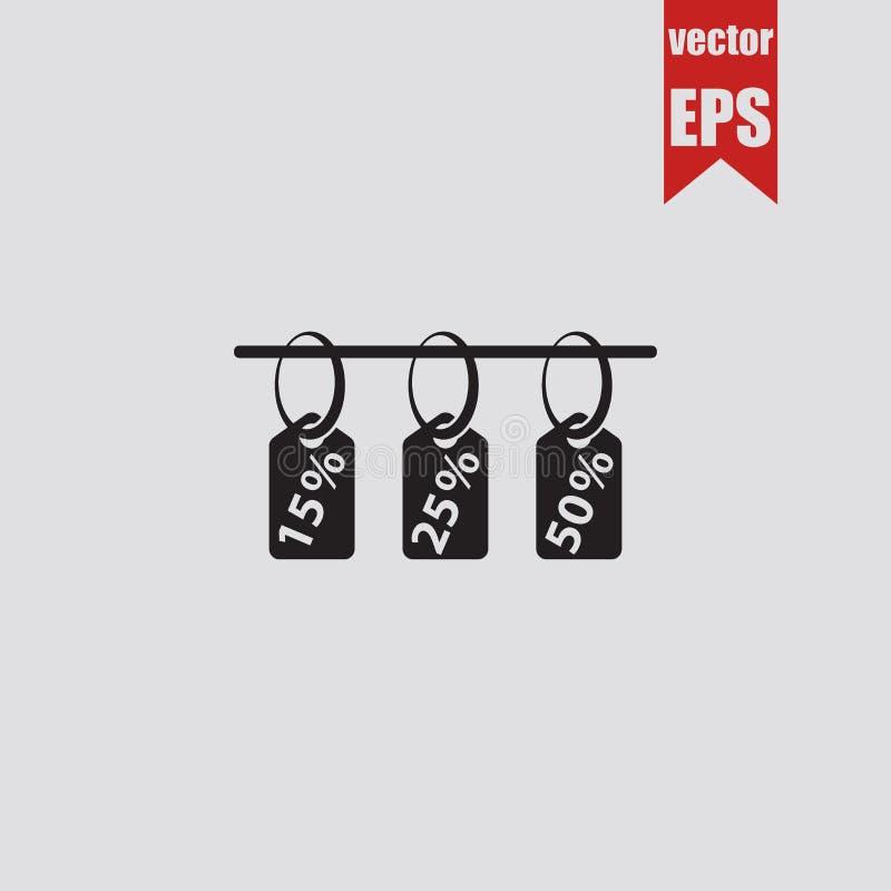 Seasonal sale, discounts, markdown icon isolated on grey background.Vector illustration. vector illustration