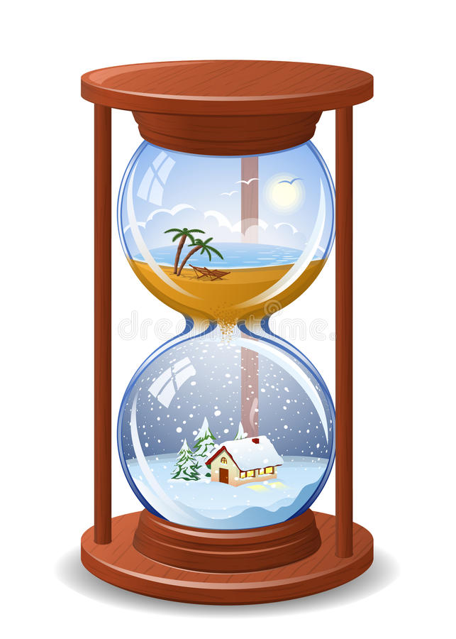 Download Seasonal sandglass stock vector. Illustration of background - 17262550