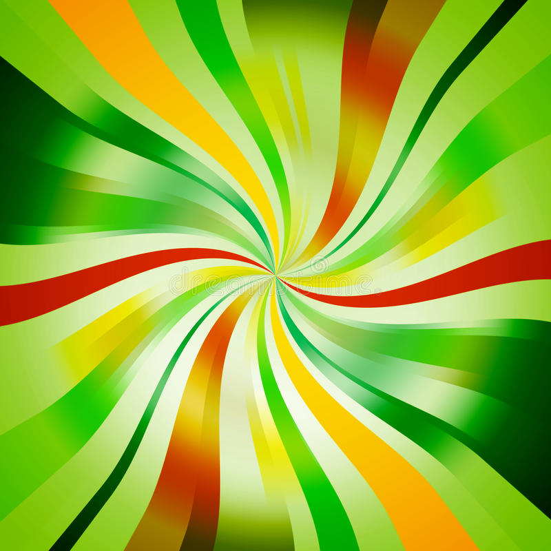 Seasonal Spiral Background. Abstract Green Seasonal Spiral Background vector illustration