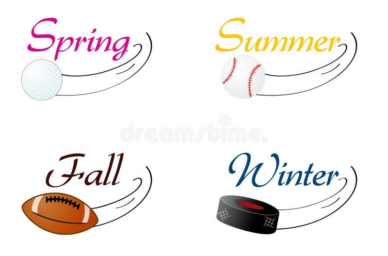 Seasonal Sports stock illustration