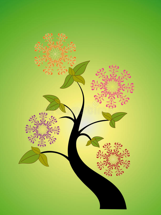 Download Seasonal tree and flower stock vector. Image of earth - 11993641
