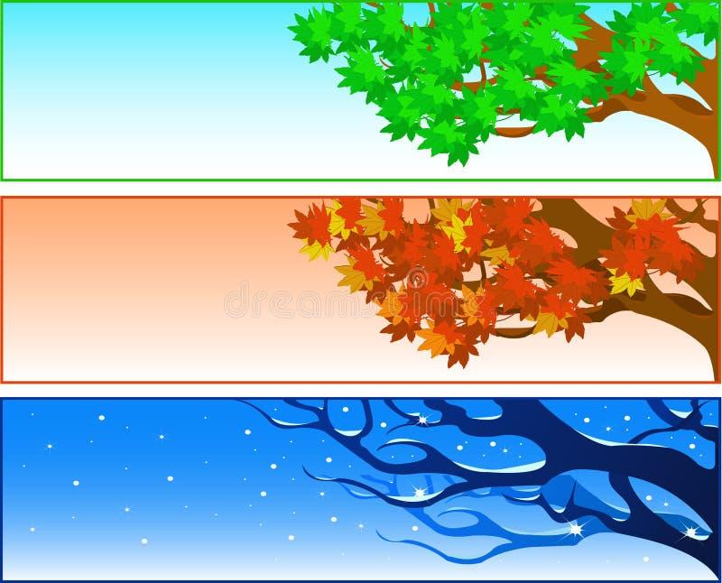 Seasonal Trees Royalty Free Stock Images