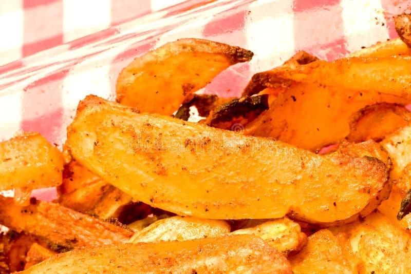 Seasoned fries royalty free stock photography
