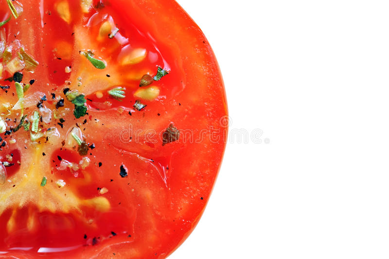 Download Seasoned tomato slice stock image. Image of seasoned - 18885375