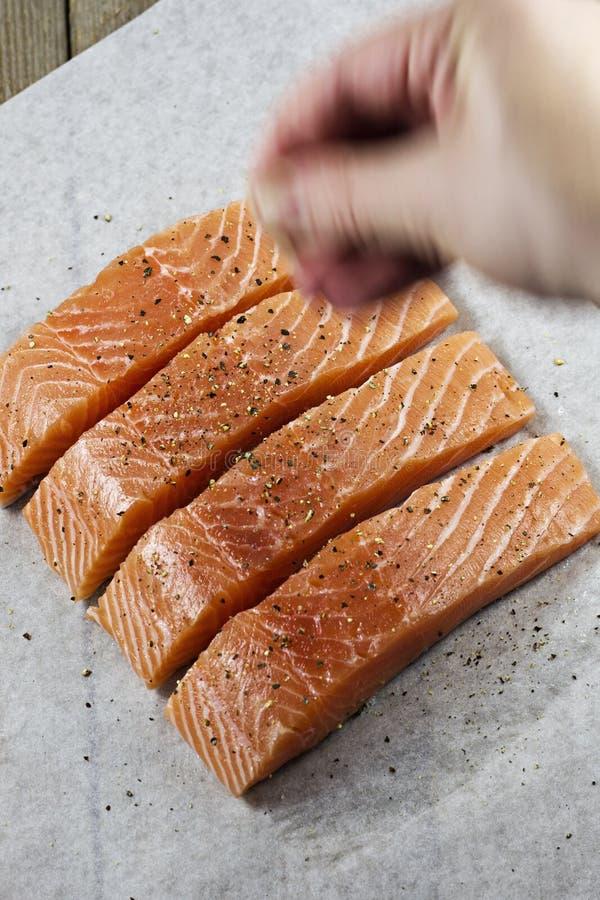 Seasoning Fish royalty free stock images