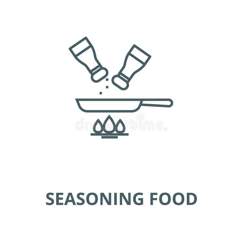 Seasoning food vector line icon, linear concept, outline sign, symbol. Seasoning food vector line icon, outline concept, linear sign royalty free illustration