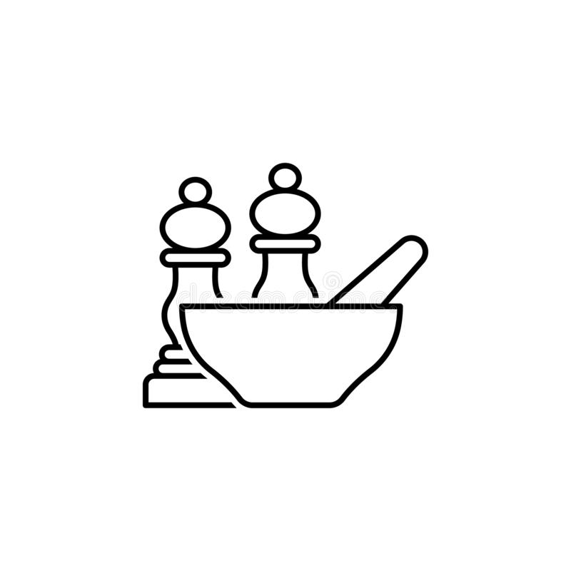 Seasoning outline icon. Elements of diet and nutrition illustration icon. Signs and symbol collection icon for websites, web. Design, mobile app, UI, UX on vector illustration