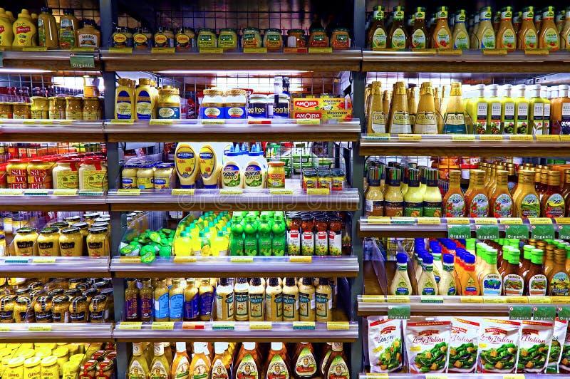 Seasoning and salad dressing products royalty free stock image