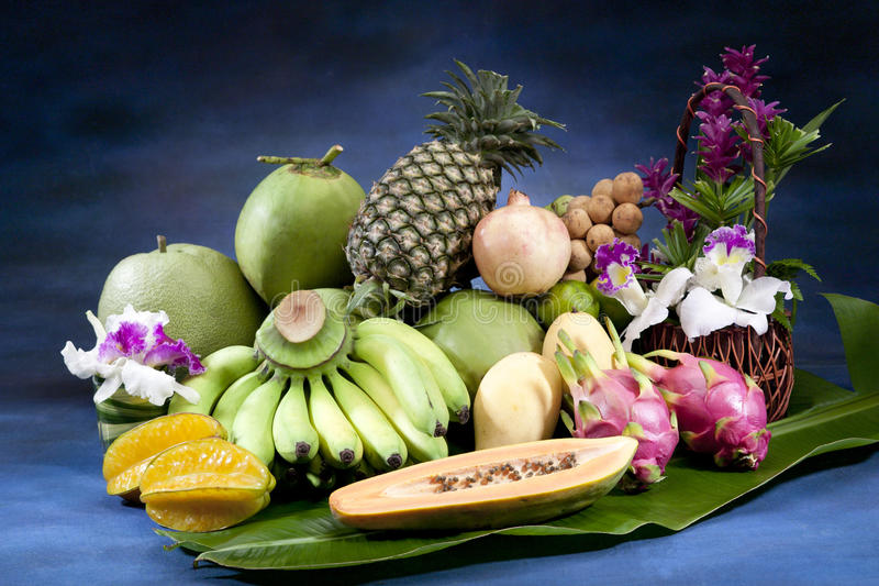 All seasoning Thai fruits isolated stock photos