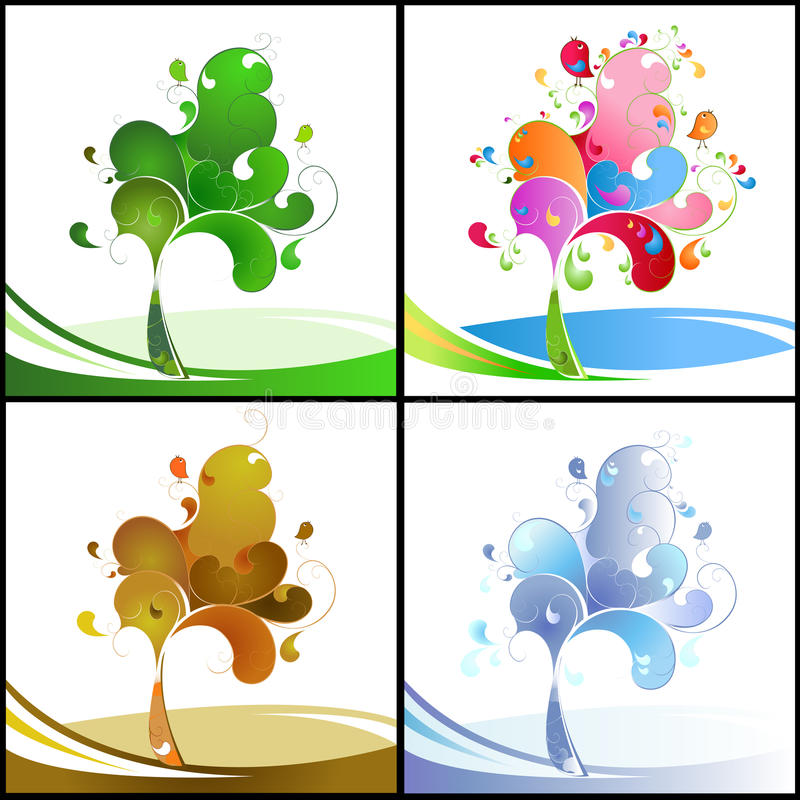 Download The seasons stock vector. Illustration of fall, drawing - 11221303