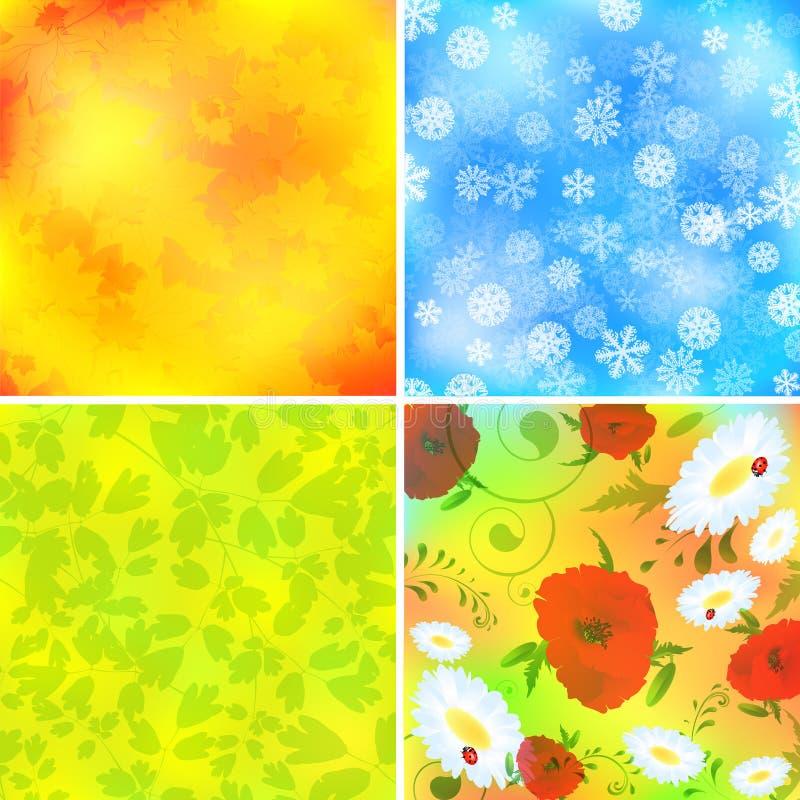 Seasons vector illustration