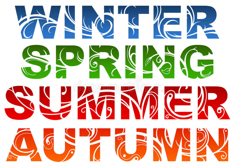 Download Seasons stock vector. Image of letters, spring, shape - 25528289