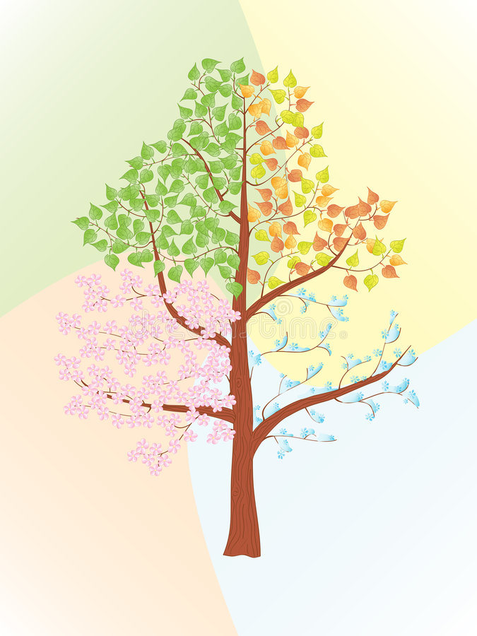 Seasons stock illustration