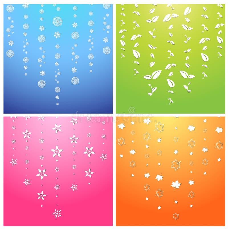 Seasons stock illustration