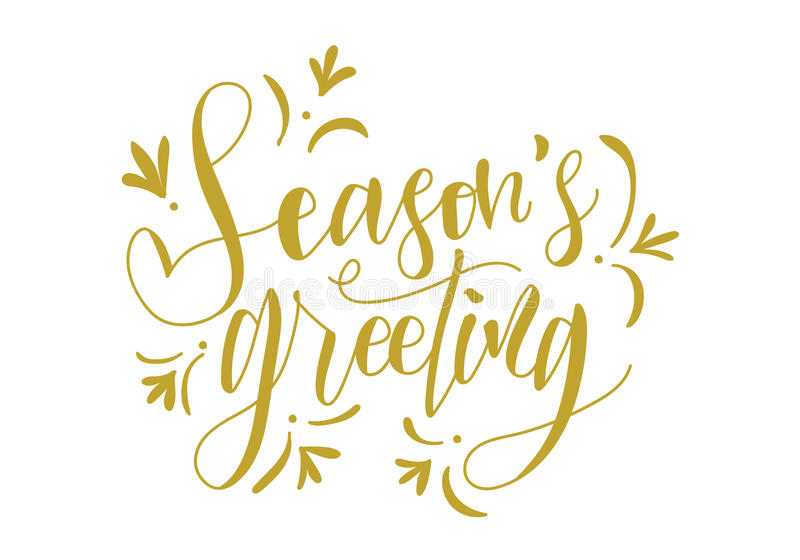 Download Seasons Greeting Hand Lettering Vector Stock Illustration - Illustration of cards, seasons: 90915406