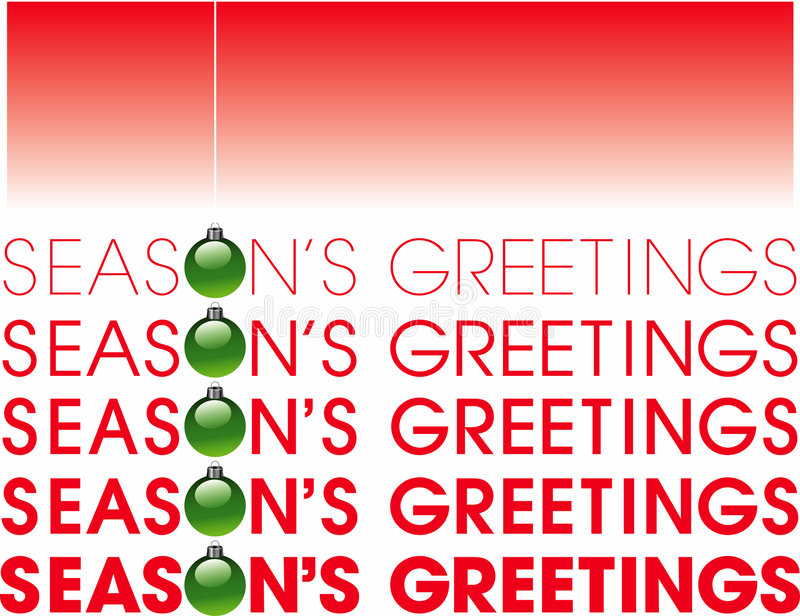 Seasons greetings royalty free illustration
